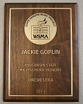 Wisconsin State High School Honors Plaque