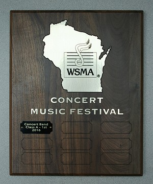 Concert - Nine Year Wood Plaque