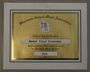 District-Special Ensemble Certificate - Rating I