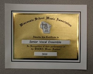 State-Special Ensemble Certificate - Rating I